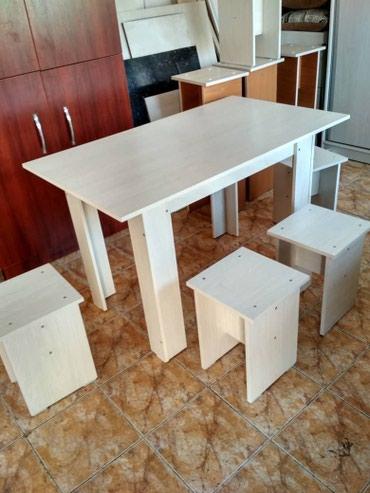 Обеденный стол с Табуретками с доставкой на дом в Бишкек