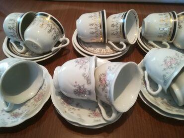 Kuhinjski setovi - Vranje: Šolje za kafu komplet 6 kom i komplet 5 kom, porcelan, sve za 1000