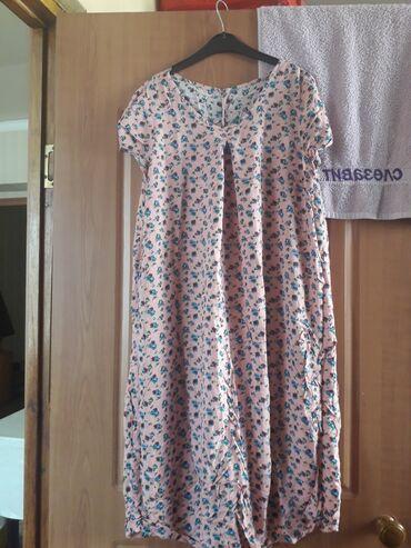 Штапельное платье местного производства, новое. На обмен 400 сом
