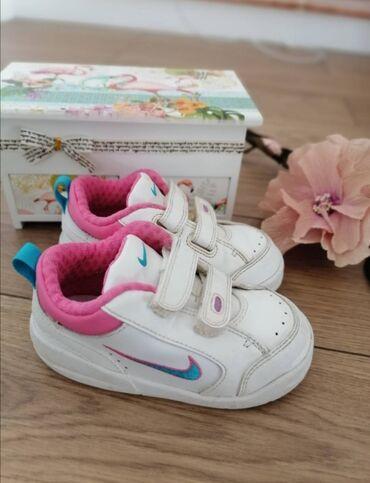 Kupace gace - Srbija: Nike original kožne patike za devojčice, beoj 23.5, dužina unutrašnjeg