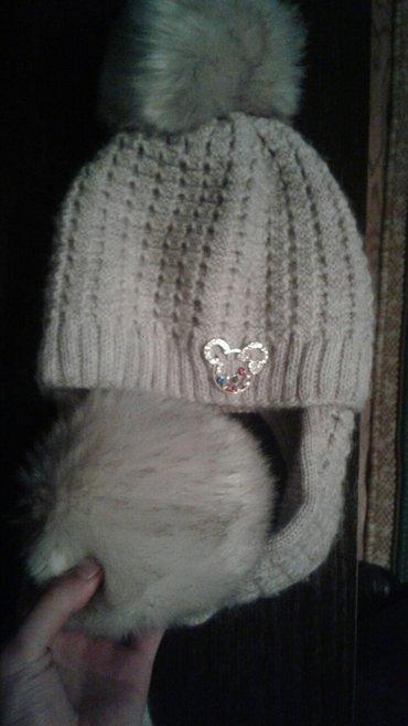Новая красивая зимняя шапочка для девочек . в Бишкек