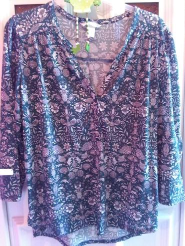 Bluze zavkrupnije dame ,zelena I  plava,rastezljiv materija - Sombor - slika 6