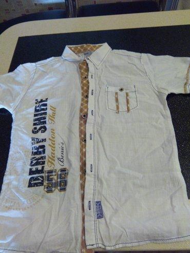 детская джинсовая рубашка в Азербайджан: Кятановая рубашка Турецкаяна 10лет
