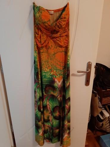 Haljine dugacke sa izrezom prelep motiv paunovog pera korpe pojacane - Backa Palanka