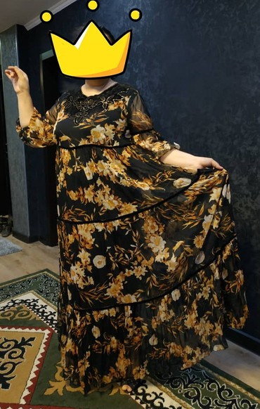 женское платье 52 в Кыргызстан: Продаю женское шифновое вечернее платье от турецкой фирмы La gazetta