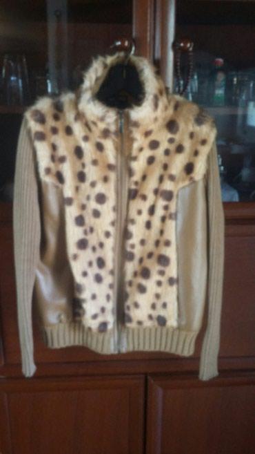 Prelepa jaknica kombinacija krzno koza.xl velicina.bez ostecenja - Bogatic