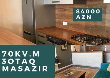 3 otaqlı, 70 kv. m | Mətbəx mebelli, Qazla