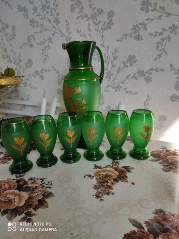 Стаканы - Кыргызстан: Богемское стекло в идеальном состоянии вообще не пользовались или