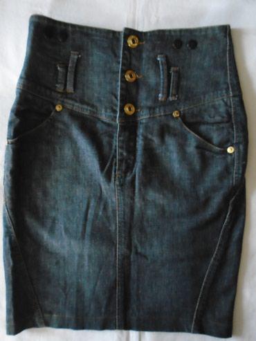 Suknja struka od - Srbija: Terranova denim suknjica, visokog struka i lepog kroja od 98 % pamuka
