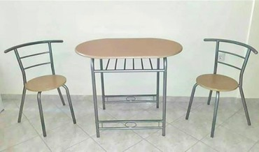 Dining set, table 60x45x75cm, 2 chairs σε Egaleo