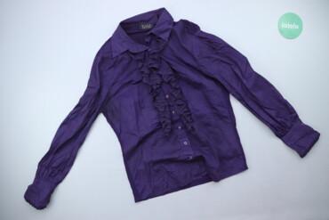 Жіноча сорочка насиченого кольору з жабо Tuzzi, p. L   Довжина: 62 см