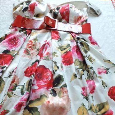 Ženska odeća | Borca: NOVA HALJINA SA ETIKETOM MODEL SHERRI HILL BROJ 36,38 Svilena haljina