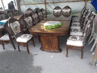 стол с двумя стульями в Кыргызстан: 16 персон стол стул новий