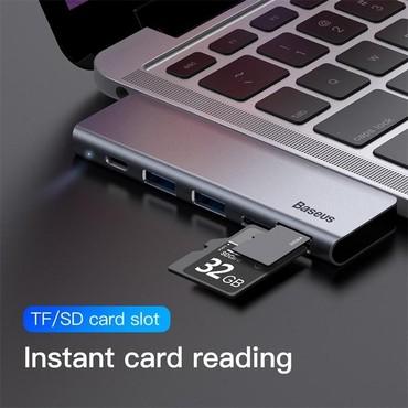 sound card - Azərbaycan: Original Baseus firmasiUniversal Type-c adapter2 eded Usb 3.0 port1