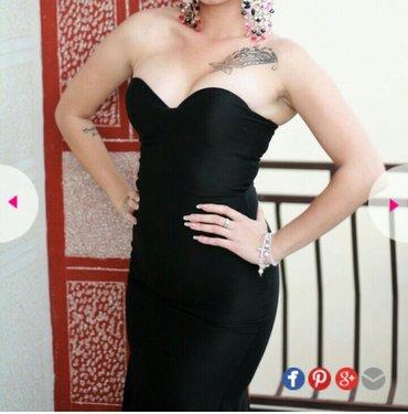 Svecana duga crna haljina, nosena samo na apsolventskoj veceri! BEZ - Cuprija
