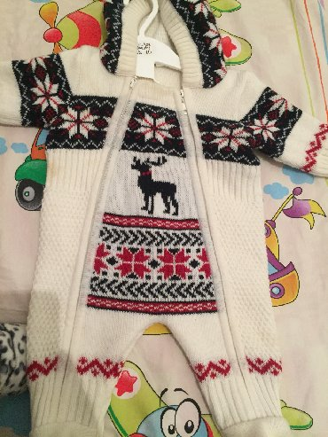Беретка вязанная - Кыргызстан: Вязаный комбинезон до 6 мес на рост 62. Россия фирмы Baby go. Качеств