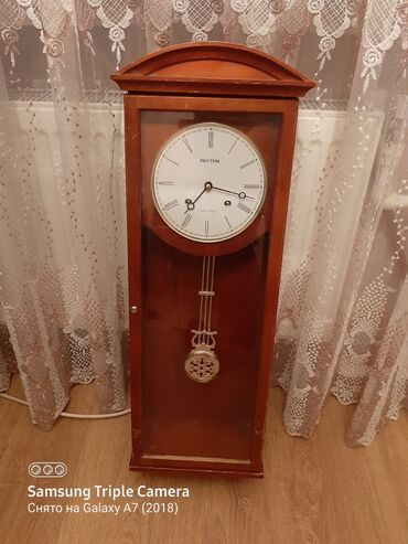 Антикварные часы - Азербайджан: Часы. Настенные старинные часы. Материал дерево. С музыкальным