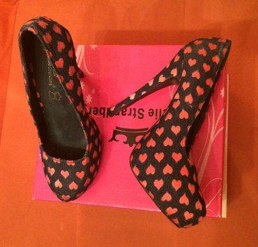 Od-teksasa - Srbija: Cipele 39 od teksasa sa roze srcima i platformom, nosene jednom kao