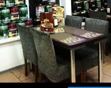 мягкая мебель бу из европы в Кыргызстан: Продаю 5 столов и 16 стульев  Столы сделаны с усиление ( крепкиене ш