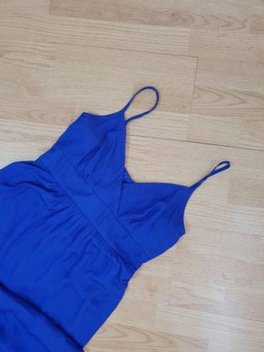 Kraljevsko plava svecana haljina do poda c&a, kao nova - Loznica