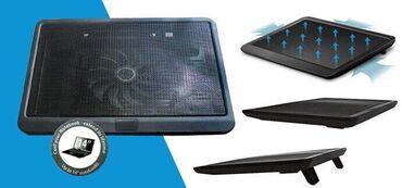 """для ноутбука подставка в Кыргызстан: V19 (подставка для ноутбуков до 14"""", 32.5x24.5cм, Blue LED вент 12см"""