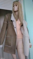 Odlicna krem boje jakna /bunda unutra nalozena krznom - Loznica