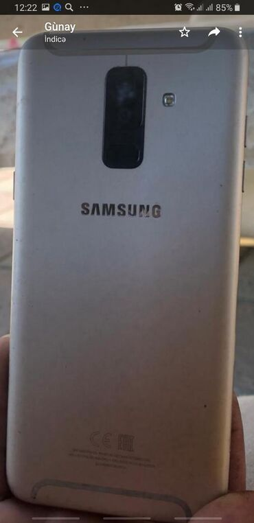 zapchasti a6 в Азербайджан: Б/у Samsung Galaxy A6 Plus 16 ГБ Серый