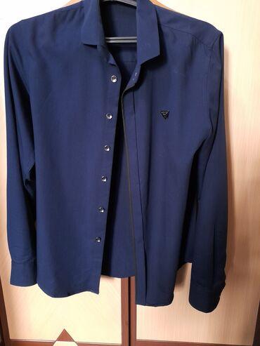 Темно синяя рубашка хорошего качество
