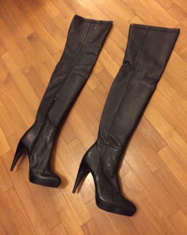 Zara high knee length high heels black leather boots . New , never σε Βόρεια & Ανατολικά Προάστια - εικόνες 5