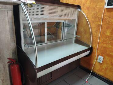 kamin iz mramora в Кыргызстан: Б/у Холодильник-витрина Коричневый холодильник