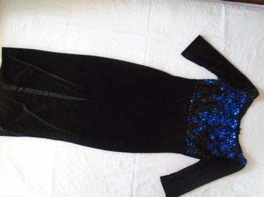 Pvc-crna-xxcm-zatvaranje-na-rajsferslus-drska-cm-unutrasnja - Srbija: Crna plišana haljina sa šljokicama na grudima, nošena, očuvana. Na par