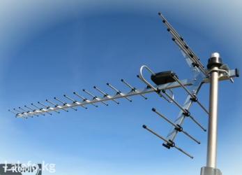 спутниковые антенны в Кыргызстан: Установка эфирных антенн, для просмотра цифрового dvb-t2