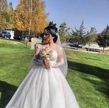 Лёгкое прекрасное свадебное платье! На фотографии наша невеста! Прокат