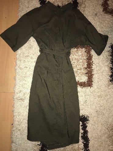 Haljina-orsay-p - Srbija: Maslinasto zelena haljina na preklop, Nova skroz. Kupljena u Orsay-u