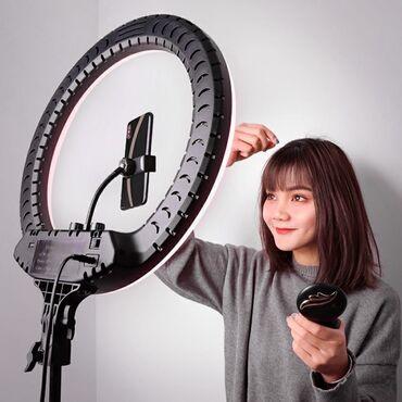 Аксессуары для фото и видео в Кыргызстан: Про Кольцевая лампа RL-18 (48 см) для салона красоты бишкексамый