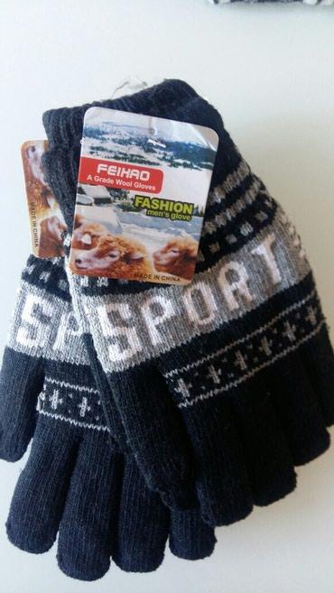 Мужские теплые перчатки черного цвета в Лебединовка
