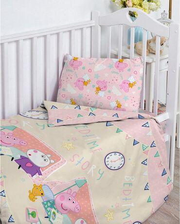Новое детское постельное белье. Размер пододеяльника размер простыни