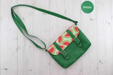 Жіноча яскрава сумка-клатч з принтом кавуна    Довжина: 29 см Ширина