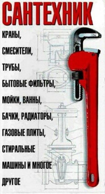 Сантехник. Замена, установка, ремонт  смесителей, водомеров, аристонов в Бишкек
