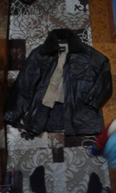 Кожаная  зимняя куртка мужская!!!Размер 54-56 в Бишкек