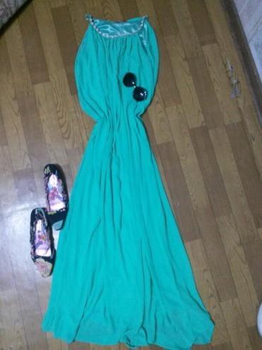 длинное шифоновое платье в Кыргызстан: Платье длинное,шифоновое,есть подклад,можно с ремнем.На любую фигуру