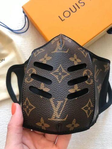 МАСКА LV предзаказ г.Бишкек  -Кожаная  -Дышательная -Удобная маска