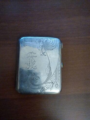 Искусство и коллекционирование - Азербайджан: Портсигар серебро 84 пр