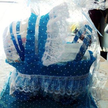 Подарки из памперсов(подгузников). коляска из памперсов. подарки для н в Бишкек