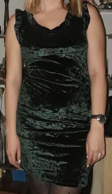 Haljine - Pirot: Plisana haljinica, prelepe zelene boje, jednom nosena, univerzalna