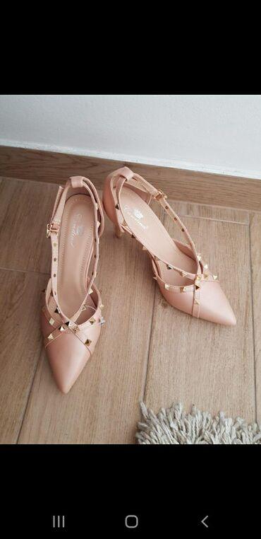 NOVO! Bež-roze cipele  Nenošene, broj 39, visina štikle 8cm