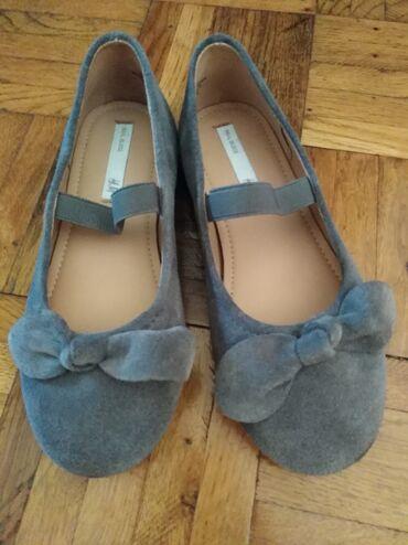 Dečije Cipele i Čizme - Plandište: H&M baletanke nove, vel 29,prevrnuta koza, sive kao mis boja