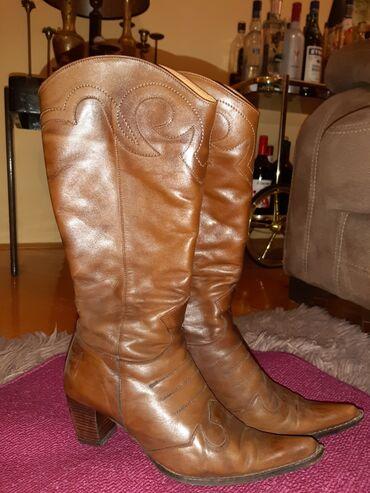 Zimska jakna reebok od - Srbija: Čizme od prave kože kaubojke,broj 37
