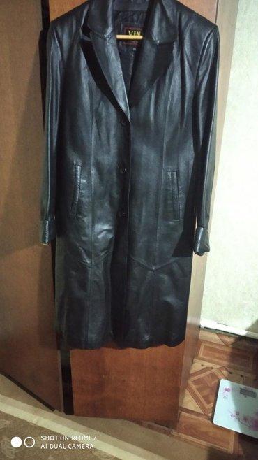 Женские куртки в Кыргызстан: Продается кожаный плащ,р.48,2200 тыс.сом,в отл.состоянии
