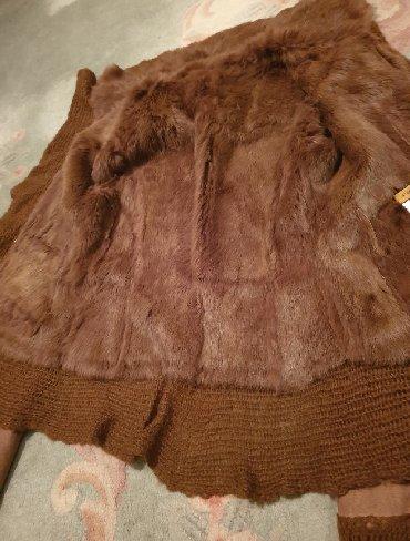 Stefano - Srbija: STEFANEL bunda - monton- kozna jakna. Prirodna koza velur i krzno